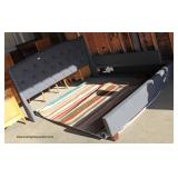 Upholstered Button Tufted King Size Bed – auction estimate $50-$200