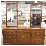 "7 Piece Burl Walnut Asian Inspired Bedroom Set by ""Century Furniture"" – auction estimate $300-$600"
