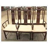 """9 Piece Burl Mahogany Asian Inspired Dining Room Set with 2 Leaves by """"Henredon Furniture"""" – auctio"""