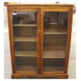 PAIR of Mahogany 2 Door Bookcase – auction estimate $100-$300 each