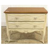 """Country French Paint Decorated Natural Finish Top 2 Drawer Chest by """"Ethan Allen Furniture"""" – aucti"""