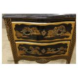 Chinoiserie Marble Top 2 Drawer Chest – auction estimate $100-$300