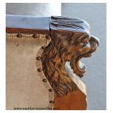 ANTIQUE Lion Head Mahogany Frame Loveseat – auction estimate $200-$400