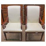 PAIR of NEW Mahogany Frame Arm Chairs – auction estimate $100-$200