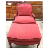 Country French Style Upholstered Chair with Ottoman – auction estimate $200-$400