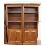 2 Piece SOLID Cherry Bookcase with Storage Cupboard – auction estimate $200-$400