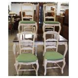 7 Piece Country French Painted Frame Dining Room Table with 6 Chairs – auction estimate $200-$400