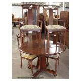 """5 Piece SOLID Cherry Table and 4 Chairs by """"Ethan Allen Furniture –American Dimensions"""" – auction es"""