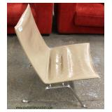 Modern Design Leather and Chrome Lounge Chair – auction estimate $100-$300