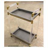 Modern Lucite Serving Cart – auction estimate $100-$200