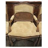 Set of 6 French Style Cane Back and Upholstered Dining Room Chairs – auction estimate $200-$400