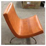 Mid Century Modern Leather Wrap Chrome Legs Lounge Chair – auction estimate $200-$400