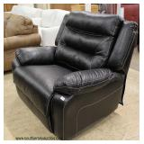 NEW Contemporary Black Leather Oversized Recliner – auction estimate $200-$400