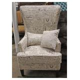 NEW Contemporary Decorator Arm Chair with Paris Upholstery – auction estimate $100-$300