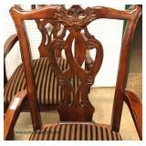 5 Piece SOLID Mahogany Banded Chippendale Style Bridge/Card Set – auction estimate $300-$600