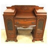 NICE MODEL Petite Depression Mahogany Server with Curio Sides – auction estimate $200-$40