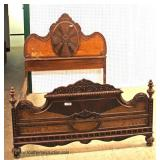 Nice 3 Piece Depression Walnut 2 Tone Bedroom Set with Full Size Bed – auction estimate $500-$1000