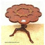 """BEAUTIFUL Mahogany Scallop Parlor Table with Human Leg Feet by """"Maitland Smith Furniture"""" – auction"""