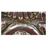 """Silver Marked 900 Victorian Mirror on Chain, approximately 11 ⅝"""" w x 8 ½""""h x ½""""d  – auction estimat"""