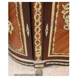 French Style Marble Top Credenza with Elaborate Applied Bronze and Bronze Paw Feet – auction estima