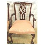 "Set of 8 SOLID Mahogany Chippendale Dining Room Chairs in Very Good Condition by ""Kindel Furniture"""