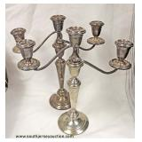 PAIR of Sterling 3 Arm Candelabras – auction estimate $100-$200