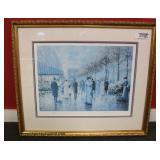 "Photo Litho 134/275 ""Paris"" signed ""Chun"" with Certificate of Authenticity – auction estimate $100-"