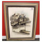 "Original Oil on Paper ""Pont"" signed ""Quercy"" with Certificate of Authenticity – auction estimate $1"