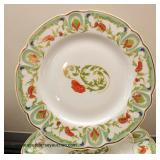 "54 Piece Porcelain ""Mozart Chantoog"" Dinnerware Set by ""Ch. Field Haviland Limoges, Limoges France"""