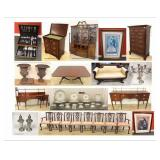 ESTATES, ANTIQUES, MID CENTURY MODERN, ASIAN, MODERN FURNITURE, NEW FURNITURE, COINS, GOLD & more!!