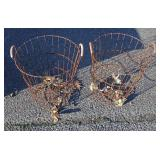 Selection of Country Rustic Wire Baskets in Different Sizes – auction estimate $50-$100