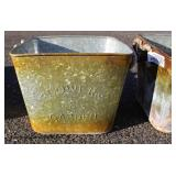 Country Farm Galvanized Items including Buckets, Rotating Bins, Tubs, Planters, and More – auction