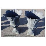 Large Selection of Antique Style Cast Iron Planters Different Sizes and Styles – auction estimate $2