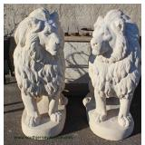 BEAUTIFUL Match PAIR of (right and left) Full Body Lions (approximately 4 ½' High) – auction estima