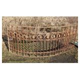 Over 200 Feet of ANTIQUE Iron Garden Fence including Arch Corners Doors, Shutters, Windows and More