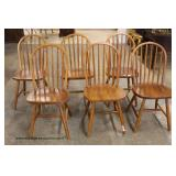 8 Piece Country Dining Room Set includes 2 Piece 4 Door China, Table and 6 Chairs – auction estimat