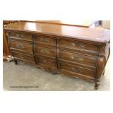 """Mount Airy Furniture"" Country French Style Walnut Low Chest – auction estimate $100-$300"