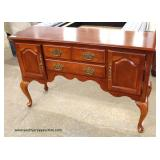 Cherry Finish Queen Anne Buffet – auction estimate $100-$300