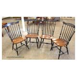 """Set of 4"" Country Stenciled Chairs – auction estimate $100-$300"