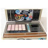 "Mid Century VINTAGE ""Rock-Ola"" Juke Box, Lights Up in original found condition – auction estimate $"