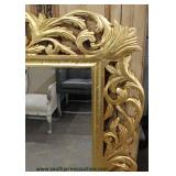 "(2) Large Pierced Carved Beveled Glass French Style Mirrors (approximately 98""w x62""h) – auction es"