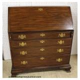 """Henkel Harris Furniture"" SOLID Cherry Bracket Foot Slant Front Writing Desk with Hidden Compartmen"