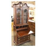 One of Several Mahogany Bracket Foot Secretary with Bookcase Top – auction estimate $100-$300