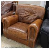 Leather Club Chair with Alligator Style Print – auction estimate $100-$300