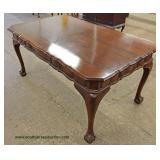 SOLID Mahogany Ball and Claw Library Table – auction estimate $200-$400