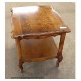 "Selection of ""Ethan Allen Furniture"" Cherry Queen Anne Lamp Tables – auction estimate $100-$200"