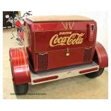 COOL Custom Made Coca Cola Trailer with VINTAGE Grager SS Chrome Rims, Aluminum Diamond Plate, Made