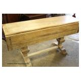 Reclaim Natural Finish Drop Side Country Breakfast Table – auction estimate $100-$300
