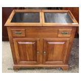 "Photo Description""Statton Furniture"" SOLID Cherry Sliding Top Server – auction estimate $100-$300"