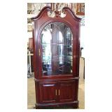 """Jasper Cabinet Furniture"" SOLID Cherry Traditional Corner China with Arch Door – auction estimate $"